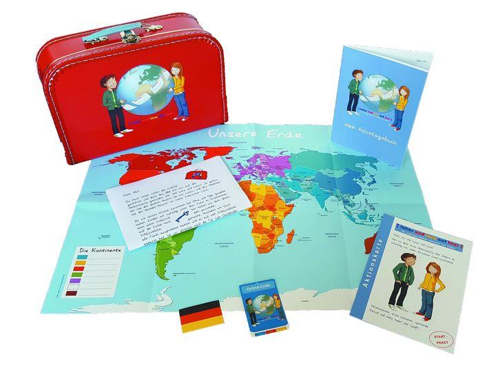 """Eine Reise um die Welt gefällig? Mit """"Lukas und Lara on Tour"""" entdecken Kinder spielerisch die Welt. Jeden Monat erhaltet ihr einen personalisierten Brief aus einem anderen Land in dem ihr spannende Infos, landestypische Mitbringsel und Fotos von Sehe..."""