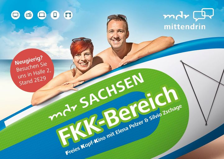 FKK-Bereich auf der #TCLeipzig 😲!? Der MDR Sachsen hat sich eine besondere Überraschung ausgedacht. Vorbeikommen & live erleben!