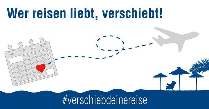 Wir unterstützen den Deutscher Reiseverband und sagen #verschiebdeinereise! Aktuell sind Urlaubsreisen nicht möglich und es gilt #stayhome, aber es kommen auch wieder bessere Zeiten, um die Welt zu entdecken 🌎 Indem ihr Reisen nicht storniert, son...