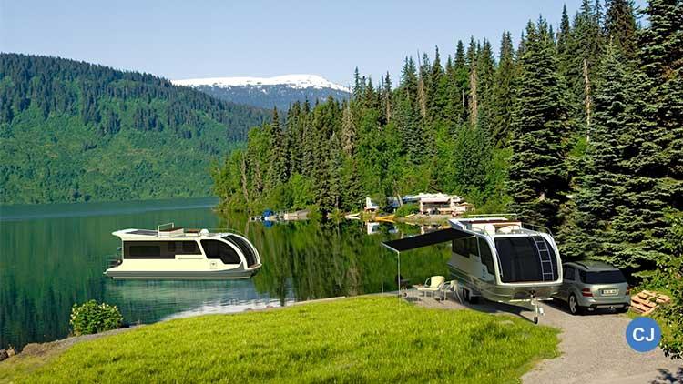 Normales Camping kann ja jeder - mit dem Caravanboat ist auch Camping auf dem Wasser möglich. Wäre das was für euch? 🚚🛳