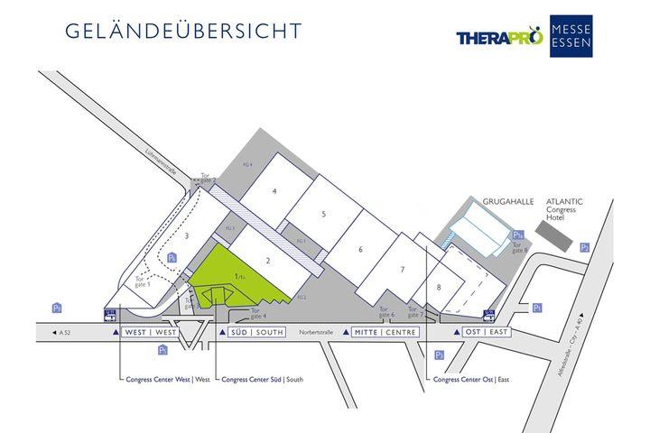 Morgen geht es los mit der #TheraPro Essen 2019! ?  So kommt ihr auf das Gelände der Messe Essen: http://ow.ly/yUDX50wm5FW & http://ow.ly/iMw350wm6dH?  Das Parkhaus P6 ist für Besucher vorgesehen. Wer mit den öffentlichen Verkehrsmitteln anrei...