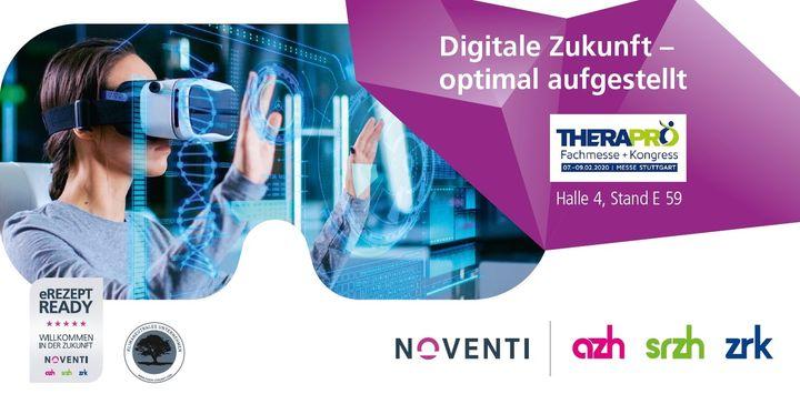 Digital. Zukunft. Optimal. Klingt gut! Wir sehen uns bald in Stuttgart bei der Therapro - Fachmesse + Kongress vom 7.-9. Februar