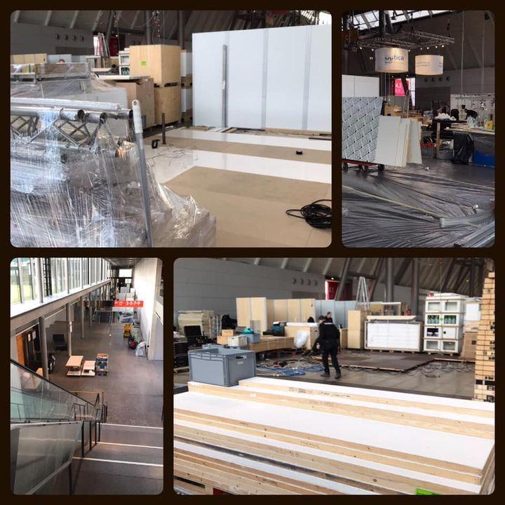 Los gehts ??? unsere Aussteller und wir bereiten die Hallen für euch vor. Heute und morgen läuft der Aufbau für die #therapro  Wer ist dabei? ?