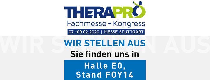 Bis ganz bald in Stuttgart auf der Therapro - Fachmesse + Kongress: 7.-9. Februar!