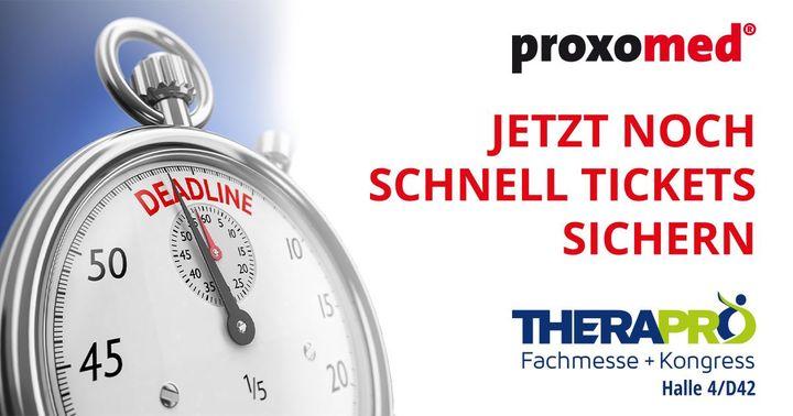 Wir freuen uns auf Euch am Stand 4D42, liebes proxomed Medizintechnik GmbH-Team!